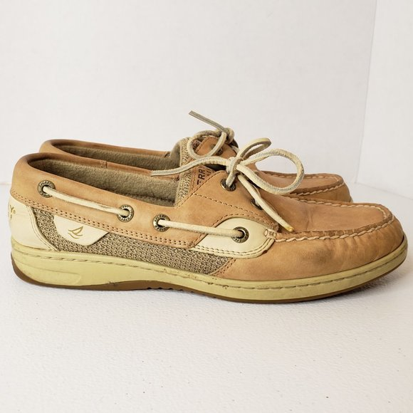 Sperry Shoes - Sperry Bluefish 9276619 Tan Boat Shoes 7.5 Wide